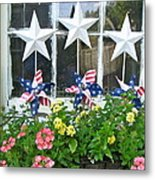 Pinwheels In The Flower Box  Metal Print