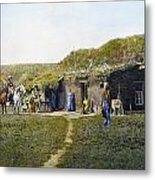 Pioneers Sod House, 1887 Metal Print
