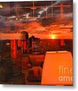 Pipestem Sunset Metal Print