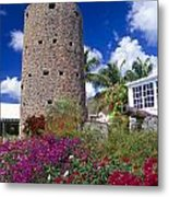 Pirate Castle Tower Metal Print by George Oze