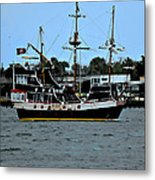 Pirate Ship Of The Matanzas Metal Print
