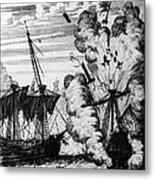 Pirate Ships Metal Print