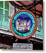 Pirates Alley Cafe Metal Print by Bill Cannon