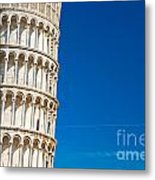 Pisa Leaning Tower Metal Print