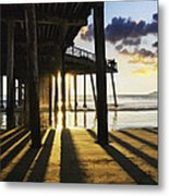 Pismo Pier Sunset II Metal Print