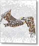 Pixel Pelicano Metal Print