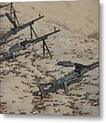 Pk Machine Guns And Spent Cartridges Metal Print