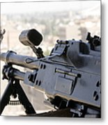 Pkm 7.62 Machine Gun Nest On Top Metal Print by Terry Moore