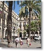 Placa Reial Barcelona Spain Metal Print