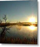 Placid Glass Lake At Dawn Metal Print by Brian  Maloney