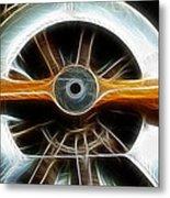 Plane Wood And Chrome Metal Print