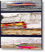 Planes Trains Automobiles Triptych Metal Print