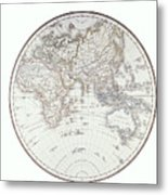 Planispheric Map Of The Eastern Hemisphere Metal Print by Fototeca Storica Nazionale