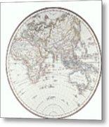 Planispheric Map Of The Eastern Hemisphere Metal Print