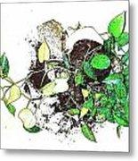 Plant Falls Metal Print
