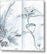 Plant Sketches Metal Print