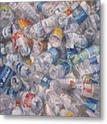 Plastic Bottles Metal Print