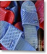 Plastic Slippers Chinatown Vancouver Metal Print