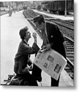 Platform Cigarette Metal Print by Kurt Hutton
