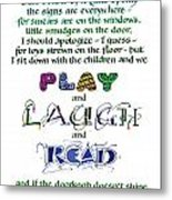 Play Laugh Read Metal Print