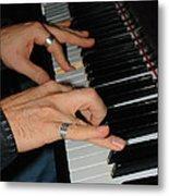 Play Me A Song Piano Man Metal Print