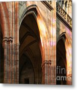 Play Of Light And Shadow - Saint Vitus' Cathedral Prague Castle Metal Print