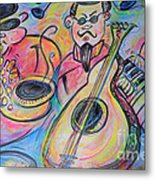 Play The Blues Metal Print by M C Sturman