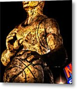 Player In Bronze Metal Print by Christopher Holmes