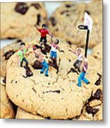 Playing Basketball On Cookies II Metal Print