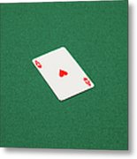 Playing Cards - Ace Of Hearts Metal Print