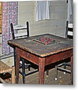 Playing Checkers Metal Print