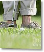 Playing Golf Metal Print