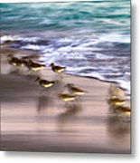 Playing Pipers Metal Print