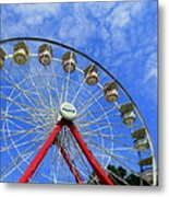Playland Ferris Wheel Metal Print by Maria Scarfone