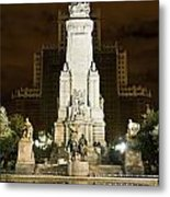 Plaza De Espana Madrid Spain Metal Print