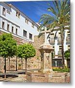 Plaza De La Iglesia In Marbella Metal Print