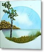 Pleasant Day By The Lake. Metal Print