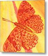 Pleasure Butterfly Metal Print