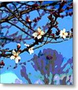 Plum Tree Blossom Metal Print