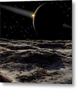 Pluto Seen From The Surface Metal Print