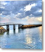 Plymouth Sunset Metal Print