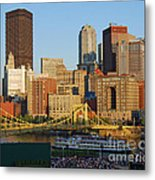 Pnc Park And River Boat Metal Print