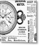 Pocket Watch, 1897 Metal Print