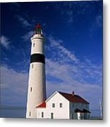 Point Lamour Lighthouse Metal Print