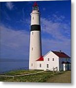 Point Lamour Lighthouse Overlooking Metal Print