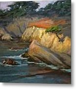 Point Lobos Last Light Metal Print