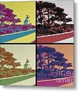 Point Loma Lighthouse Warhol Metal Print