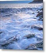 Point Shirley Surf Metal Print