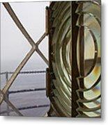 Point Vicente Lighthouse 3rd Order Fresnal Light Metal Print