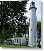 Pointe Aux Barqes Lighthouse Metal Print